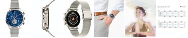 Teslar Men's Swiss Chronograph Re-Balance Stainless Steel Mesh Bracelet Watch 42mm