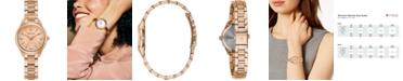 Bulova Women's Sutton Diamond-Accent Rose Gold-Tone Stainless Steel Bracelet Watch 28mm