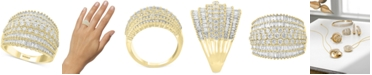 EFFY Collection EFFY® Diamond Baguette Multi-Row Statement Ring (1-7/8 ct. t.w.) in 14k Gold
