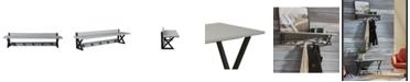 Alaterre Furniture Cornerstone Cement-Top Coat Hook with Shelf