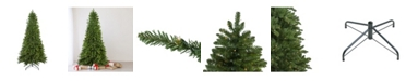 Northlight Pre-Lit Slim Eastern Pine Artificial Christmas Tree