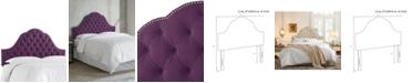 Skyline Jacqueline California King Nail Button Tufted Arch Headboard