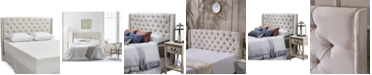 Noble House Jarson Wingback Tufted Headboard - Full/Queen