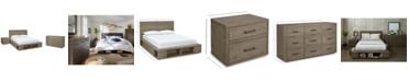 Furniture Brandon Storage Platform Bedroom Furniture, 3-Pc. Set (Full Bed, Dresser & Nightstand), Created for Macy's