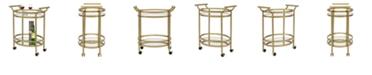 Studio Designs Home Palazzo Glass Bar Cart, Gold