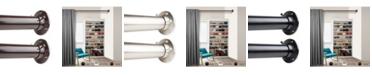 """Rod Desyne 1.5"""" Adjustable 66-115 inch Room Divider Rod and Socket Set"""