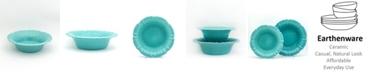 Euro Ceramica Chloe Turquoise Pasta Bowl