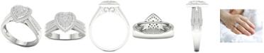 Macy's Diamond Heart Ring (1/2 ct. t.w.) in Sterling Silver