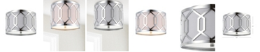 JONATHAN Y Hex 2-Light Metal Led Flush Mount