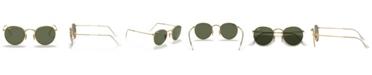 Ray-Ban ROUND METAL Sunglasses, RB3447N 53