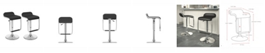 CorLiving Adjustable Barstool with Footrest in Leatherette, Set of 2