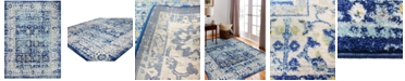 "BB Rugs Cassius CSS-502 Navy 2'6"" x 8' Runner Area Rug"