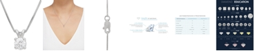 """Grown With Love Lab Grown Diamond Solitaire 18"""" Pendant Necklace (1/2 ct. t.w.) in 14k White Gold"""