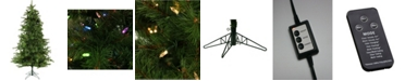 Christmas Time 6.5'. Colorado Pine Artificial Christmas Tree with Multi-Color LED String Lighting And Holiday Soundtrack