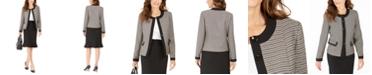 Le Suit Tweed-Jacket Flared-Hem Skirt Suit