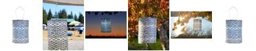 Allsop Home & Garden Soji Printed Tribal Diamond Cylinder Solar Lantern