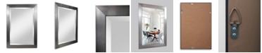 Reveal Frame & Decor Alpine Vibe Silver Beveled Wall Mirror