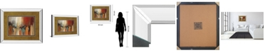 "Classy Art Skyline by Cat Tesla Mirror Framed Print Wall Art, 34"" x 40"""