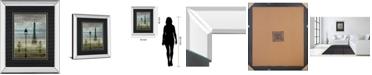 """Classy Art Paris 1 by Allen Lanbert Mirror Framed Print Wall Art, 34"""" x 40"""""""
