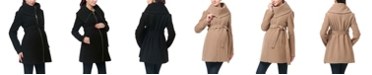 kimi + kai Mia Maternity Wool Blend Fold Collar Coat