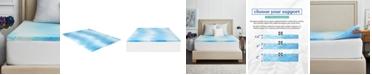 """Sealy 1.5"""" Gel Memory Foam Mattress Topper , Twin"""