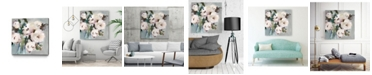 "Giant Art 30"" x 30"" Pale Bouquet I Museum Mounted Canvas Print"