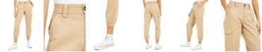 Tinseltown Juniors' Cotton Cargo Jogger Pants