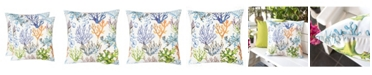 Homey Cozy Outdoor Pillow, Coral - Set of 2