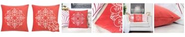 Homey Cozy Arianna Embroidery Square Decorative Throw Pillow