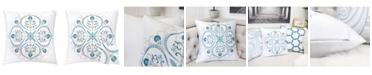 Homey Cozy Arya Embroidery Square Decorative Throw Pillow