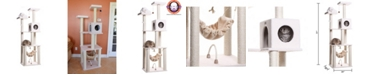 Armarkat Cat Tree, 4 Levels with Rope Swing, Hammock, Condo and Perch