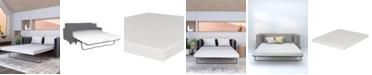 """Dusk & Dawn 4.5"""" Medium Sleep Sofa Replacement Mattress (Mattress Only)- Twin"""