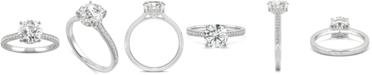 Charles & Colvard Moissanite Engagement Ring (1-3/4 ct. t.w. DEW) in 14k White Gold