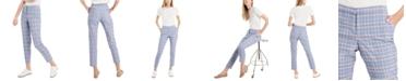 Riley & Rae Glen Plaid Slim Trousers, Created for Macy's