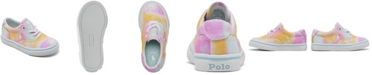 Polo Ralph Lauren Toddler Girls Thornton Tie-dye Casual Sneakers from Finish Line