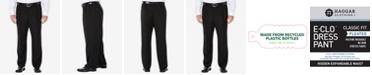 Haggar Men's Big & Tall Eclo Stria Classic-Fit Pleated Hidden Expandable Waistband Dress Pants