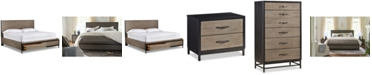 Furniture Avery Brown Storage Bedroom Furniture, 3-Pc. Set (King Bed, Chest & Nightstand)