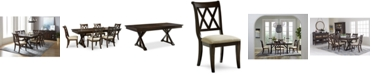 Furniture Baker Street Dining Furniture, 7-Pc. Set (Dining Trestle Table & 6 Side Chairs)