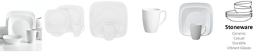 Corelle Vivid White Square 16-Pc. Set, Service for 4