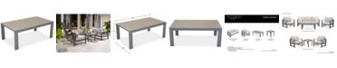 Furniture Aruba Gunmetal Aluminum Coffee Table, Created for Macy's