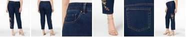 Charter Club Plus Size Embroidered Ankle Jeans, Created for Macy's