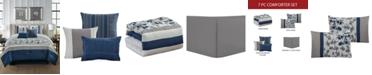 Hallmart Collectibles Reina 7-Pc. Queen Comforter Set