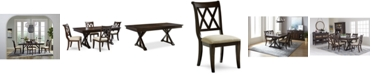 Furniture Baker Street Dining Furniture, 5-Pc. Set (Dining Trestle Table & 4 Side Chairs)