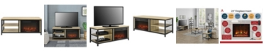 Ameriwood Home Lone Oak Fireplace Tv Stand For Tvs Up To 55 Inches