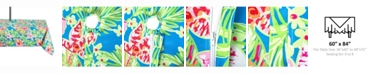 """Design Imports Summer Floral Outdoor Table cloth with Zipper 60"""" X 84"""""""