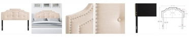 CorLiving Aspen Crown Silhouette Headboard with Button Tufting, Double/Full
