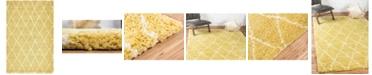 Bridgeport Home Fazil Shag Faz3 Yellow 5' x 8' Area Rug