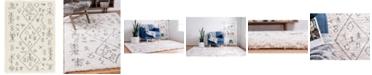 Bridgeport Home Fazil Shag Faz1 Ivory 4' x 6' Area Rug