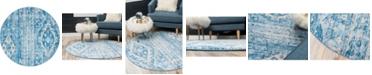 Bridgeport Home Nira Nir2 Blue 5' x 5' Round Area Rug