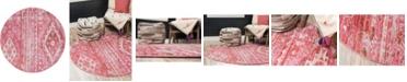 Bridgeport Home Nira Nir2 Pink 5' x 5' Round Area Rug